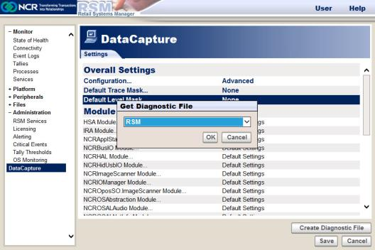 Creating a Diagnostic File